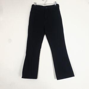 Uniqlo True Black Crop Flare Leg Jeans